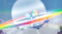 Rainbow Dash ejecutando un Sonic Rainboom