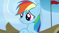 Rainbow Dash listening to Scootaloo S7E7