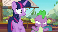 Spike --will somepony please tell me-- S6E22