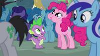 "Spike and Pinkie ""can I hop on you"" S4E16"