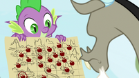 Spike presents map of apple trails S9E23