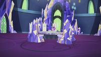 Starlight sitting in Fluttershy's throne S5E25