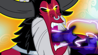 Tirek sucking away Discord's magic S4E26