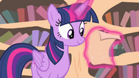 Twilight reading a letter Fluttershy received S4E11