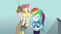 Vignette ruffling Rainbow Dash's hair EGROF