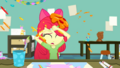 Apple Bloom gets splattered with Pinkie's paint SS10.png