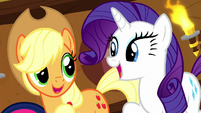 "Applejack and Rarity ""and a-two"" S8E18"