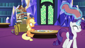 Applejack and Rarity entranced in the library S6E21.png