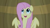 Fluttershy singing inside a barrel S4E14