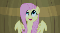 Fluttershy singing inside a barrel S4E14