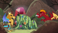 Garble approaching disguised Ember and ponies S6E5.png