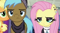 Goth Fluttershy and Neigh Sayer walk away S8E4