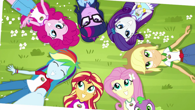 File:Photograph of Equestria Girls lying in the grass EG4.png