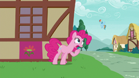 Pinkie Pie calling out to Rainbow Dash S7E23