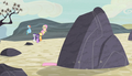 Pinkie flattened by boulder S5E1.png