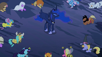 Ponies backing up from Luna S2E04