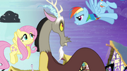 Rainbow Dash accuses Discord -yeah, right!- S4E01