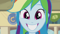 Rainbow Dash grinning widely EG2
