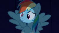 Rainbow Dash listening to Rarity S6E15