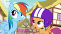 Rainbow and Scootaloo hear the Wonderbolts S6E7.png