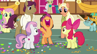 "Scootaloo proclaims ""CMCs forever!"" S9E12"