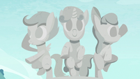 Sculpture of the Cutie Mark Crusaders S7E6