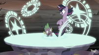 Spike gets sucked into the portal S5E26