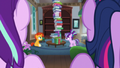 Starlight and Twilight looking at Sunburst and filly Starlight S5E26.png