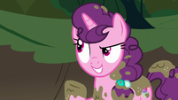 Sugar Belle talking about her cousin S8E10