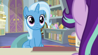 Trixie stares blankly at Starlight Glimmer S9E20