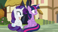 Twilight and Rarity hear Pinkie's scream S9E2
