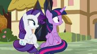 Twilight and Rarity hear Pinkie's scream S9E2