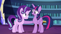 Twilight asks --is something wrong--- S6E1