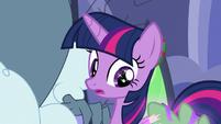 Twilight notices Spike's glittering MLPBGE