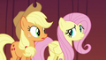 Applejack and Fluttershy looking nervous again S6E20.png