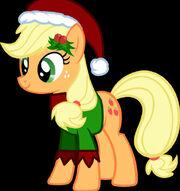 Applejack christmas by 12rey12-d5ozhbx
