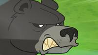 Bear-Thorax baring his fangs at Princess Ember S7E15