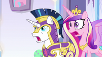 Cadance and Shining Armor horrified S9E1