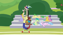Discord appears in a coach's outfit S8E15