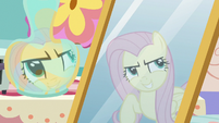 "Fluttershy's reflection ""stairs that lead to nowhere"" S7E12"
