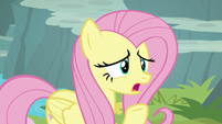 Fluttershy offering lettuce to Rarity S8E4