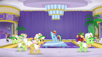Gold Horseshoe Gals pretend to go to bed S8E5
