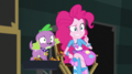 Pinkie Pie and Spike looking very nervous EGS2.png