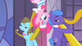 Pinkie Pie hanging from the ceiling S1E26.png