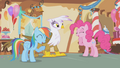 Pinkie and Dash laughing at Gilda S1E05.png