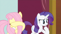 Promotional - Fluttershy and Rarity react to Pinkie's crazy face S3E3