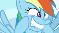 Rainbow Dash biting her lip in excitement S8E5