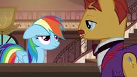 Rainbow annoyed by clerk's non-response S6E13