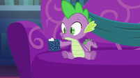 Spike blows on his hot cocoa S06E08