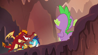 Spike watches Ember struggle with Garble S6E5
